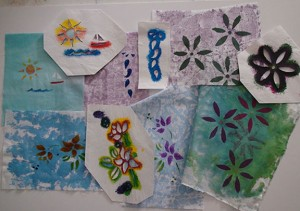 Fast cut stencils and fabric prints