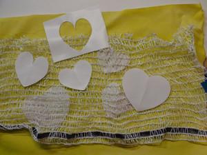 heart print materials setup