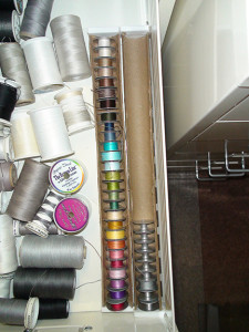bobbins in drawer