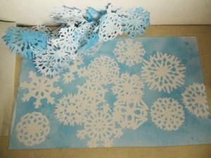 freezer paper snowflakes
