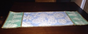 Winter Table Runner made by 8 year old