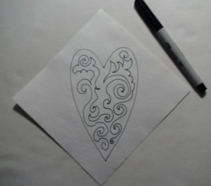 heart draw design