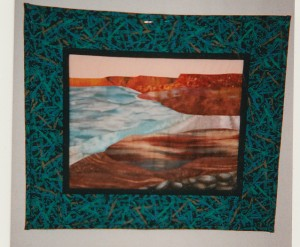 cliff shore mini quilt