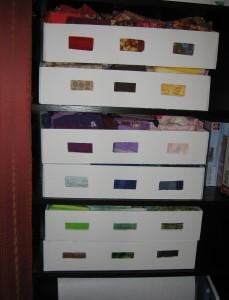 fabric bookcase