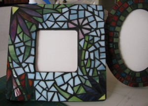 mosaic flora mirror