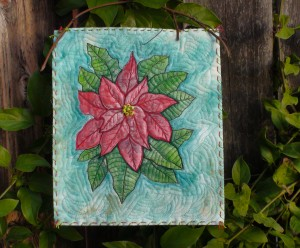 poinsettia wall hanging finished