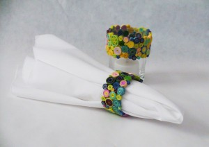 multi color coil napkin ring