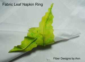 3 leaf napkin ring batik