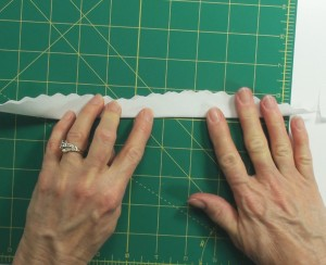 7 remove pattern and fold lengthwise