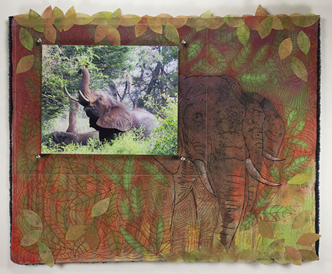 elephants photo fiber