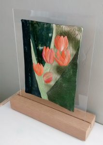 tulip quilt plexi reclaimed wood