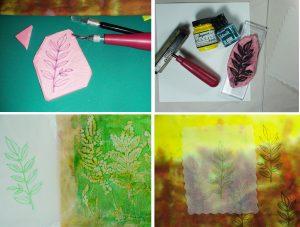 curving printing silk gelli