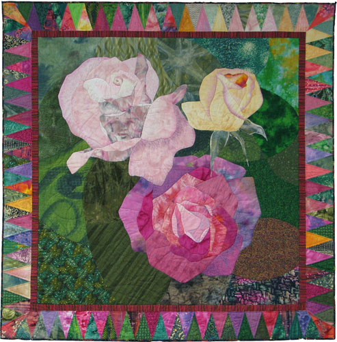 art quilts roses