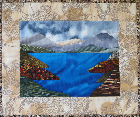 art quilt mini landscape